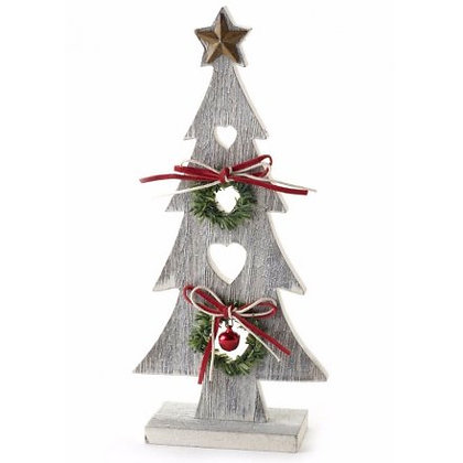 Wooden tree with star