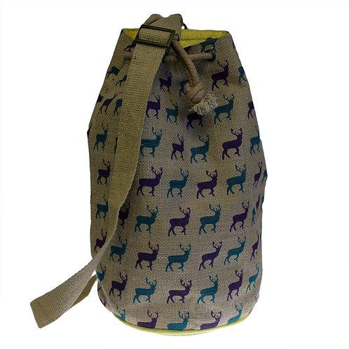 Deer Jute Duffle Bag