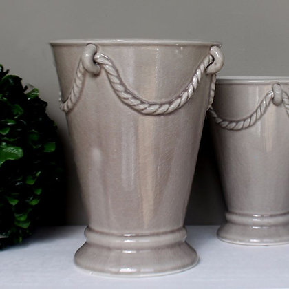 Leo Light Grey Vase, Large