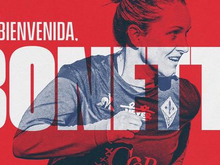Calciomercato Femminile: Tatiana Bonetti è una nuova giocatrice dell'Atletico Madrid