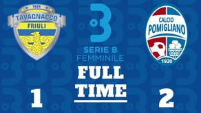 Serie B Femminile, Tavagnacco - Pomigliano 1-2