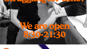 We have long opening Hours to suit you all.