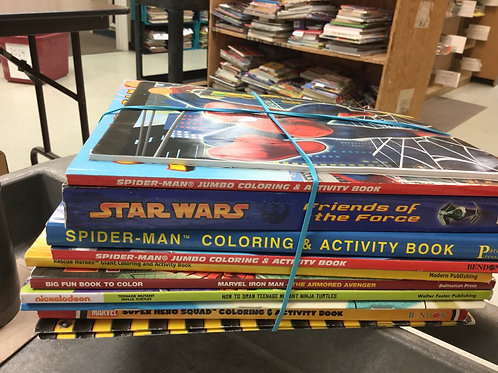Coloring books Star Wars Spiderman
