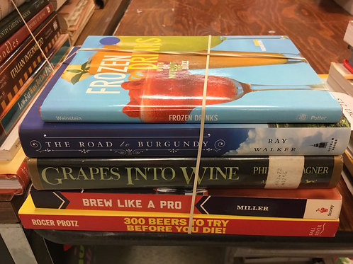 Cookbooks frozen drinks wine beer