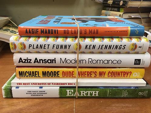 Humor politics Michael Moore Aziz Ansari Jon Stewart