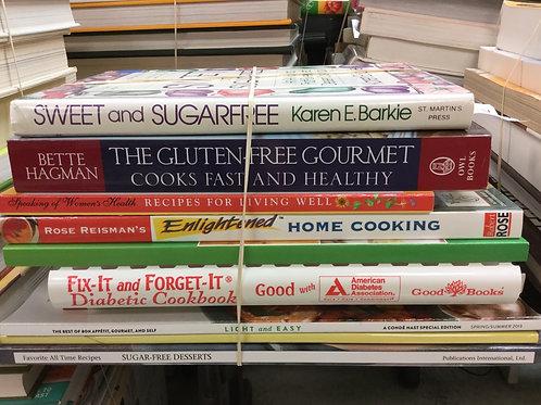 Cookbooks sugar-free gluten-free healthy diabetic light