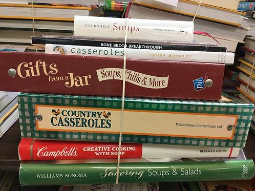 Cookbooks soups and casseroles salads