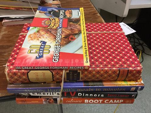 Cookbooks George foreman Ainsley Harriott Emeril