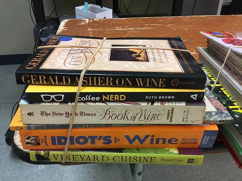 Cookbooks wine coffee