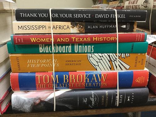 American history Mississippi Texas unions Tom Brokaw George Washington