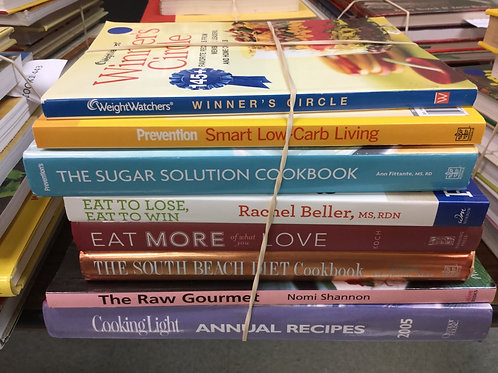 Cookbooks weight watchers low carb sugar free South Beach diet raw light