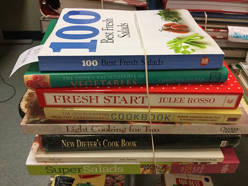 Cookbooks salads vegetables light diet