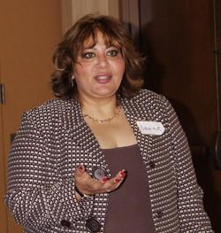 Sahar at LAAMA Seminar speaking