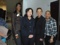 With Secretary Hilda Solis at Woman Conference 2011