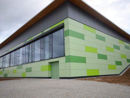 Trespa® Fassade Sporthalle Erdmannhausen