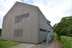 Holzfassade Touristzentrum Gaienhofen