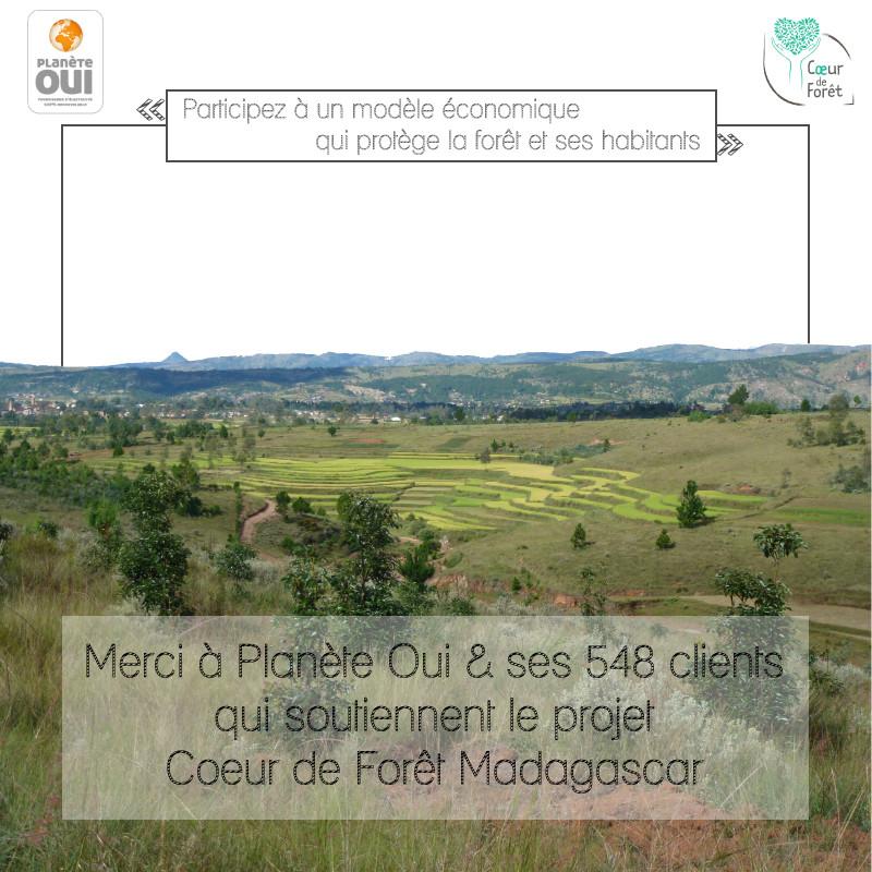 Merci à Planète Oui et ses clients qui soutiennent Coeur de Forêt Madagascar