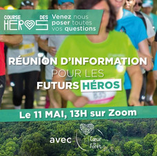 RDV le 11 mai de 13h à 14h - Réunion d'information pour les futurs Héros - Course des Hér