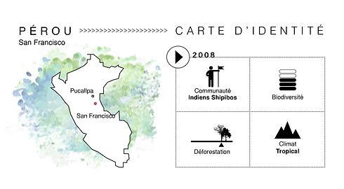 Carte d'identité du projet Pérou San Francisco de Coeur de Forêt