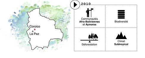 Carte d'identité du projet Bolivie Corico de Coeur de Forêt