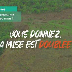 """Jusqu'au 5 oct., vos dons pour le projet Masoala sont doublés par les mécènes du """"1% for the planet"""""""