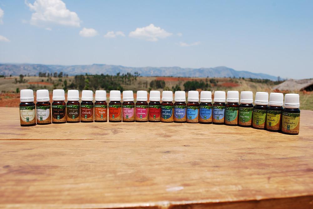 La gamme d'huiles essentielles CdF