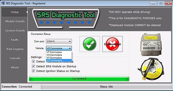 SRS Diagnostics tool with ALDL Cable