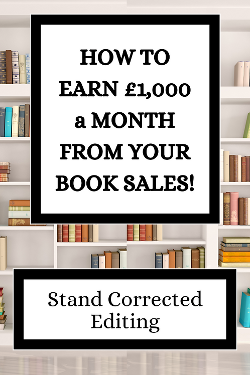 How to Earn £1,000 a Month From Your Book Sales eBook