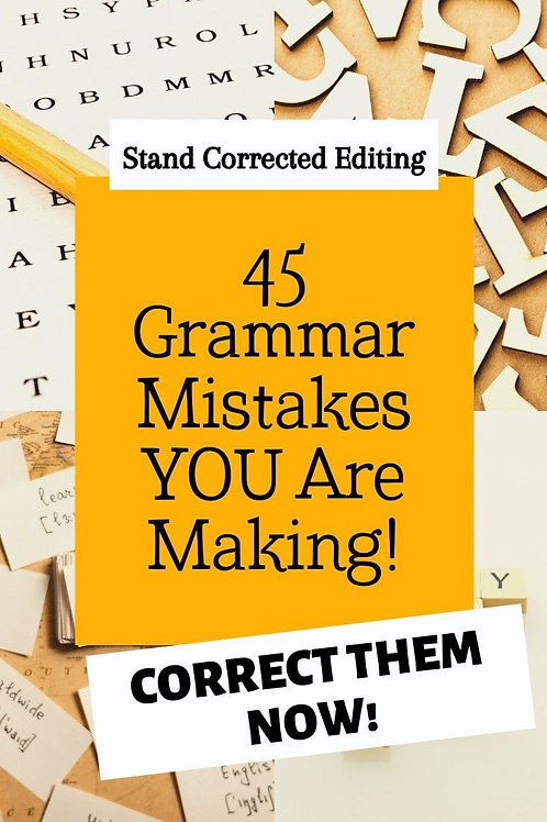 Common Grammar Mistakes PDF
