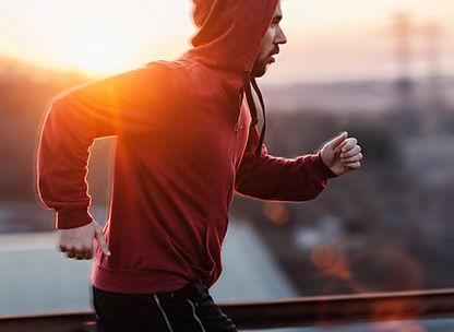 Running, sport, sweater