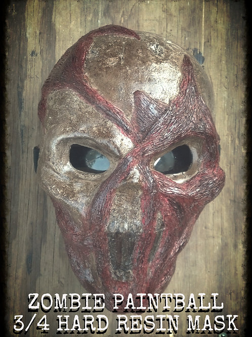 PAINTBALL ZOMBIE 3/4 HARD RESIN MASK
