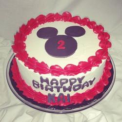 Happy birthday Kai!  Ava's will be in a week!! #sweetchef #sweetchefpastry #vanillacake #vanillabutt