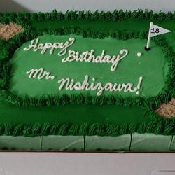 Instagram - #sweetchefpastries #birthday #sheetcake #almondcake #vanillabuttercream #golf #18thhole