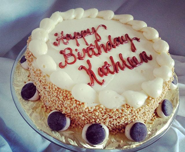 Happy birthday Kathleen! Apparently my gifts are not Facebook-worthy ;p #sweetchef #sweetchefpastry