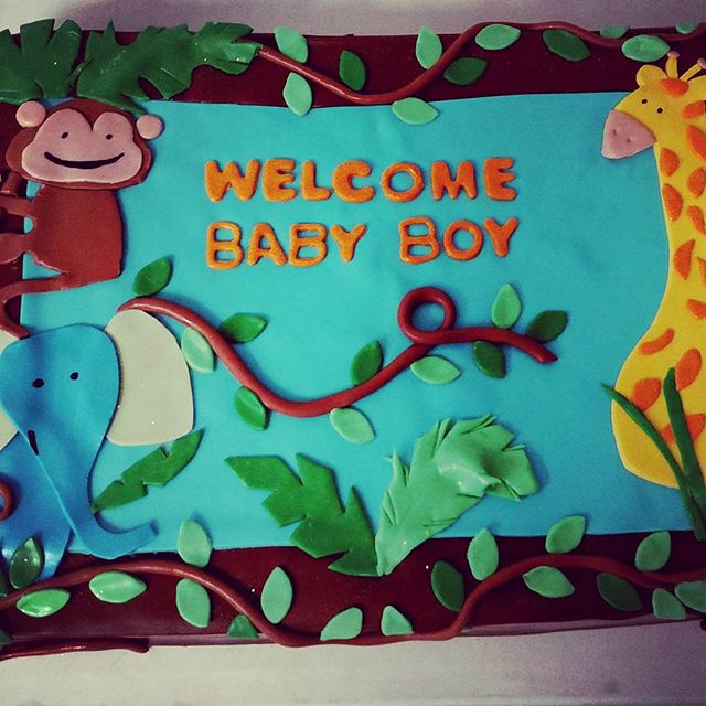 #sweetchefpastries #babyshower #vanillacake #vanillabuttercream #fondant #bananafondant #babyboy #an