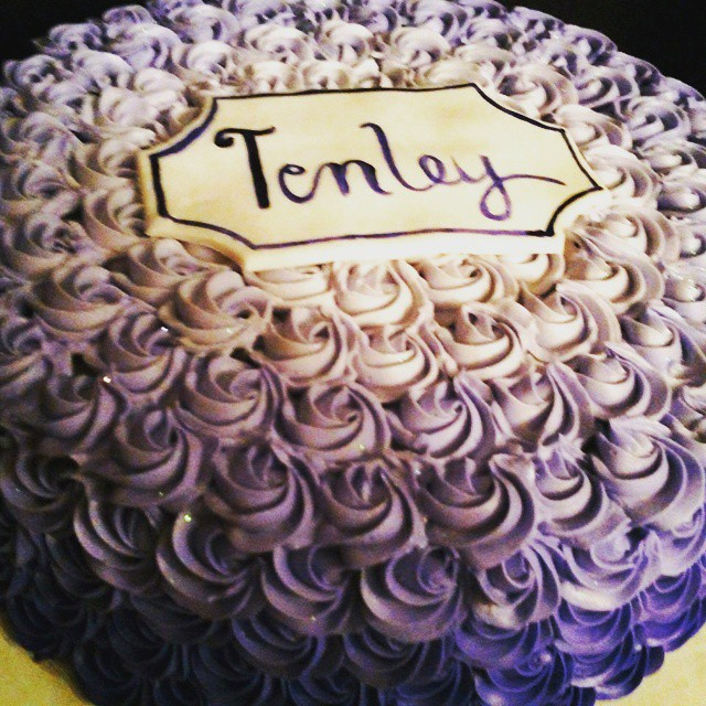 Instagram - #sweetchefpastries #almondcake #vanillabuttercream #rosettes #ombre #purple #birthday