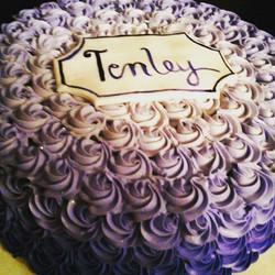 Instagram - #sweetchefpastries #almondcake #vanillabuttercream #rosettes #ombre #purple #birthday