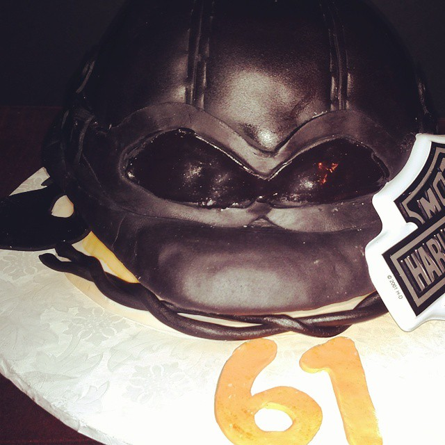 Instagram - #sweetchef #harleydavidson #germanhelmet #customcake #birthday #fondant #lookslikeanevil