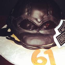 Instagram - #sweetchef #harleydavidson #germanhelmet #customcake #birthday #fondant #lookslikeanevil