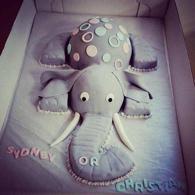 #sweetchef #sweetchefpastry #genderreveal #boyorgirl #heorshe #babyblue #babypink #elephant #marblec