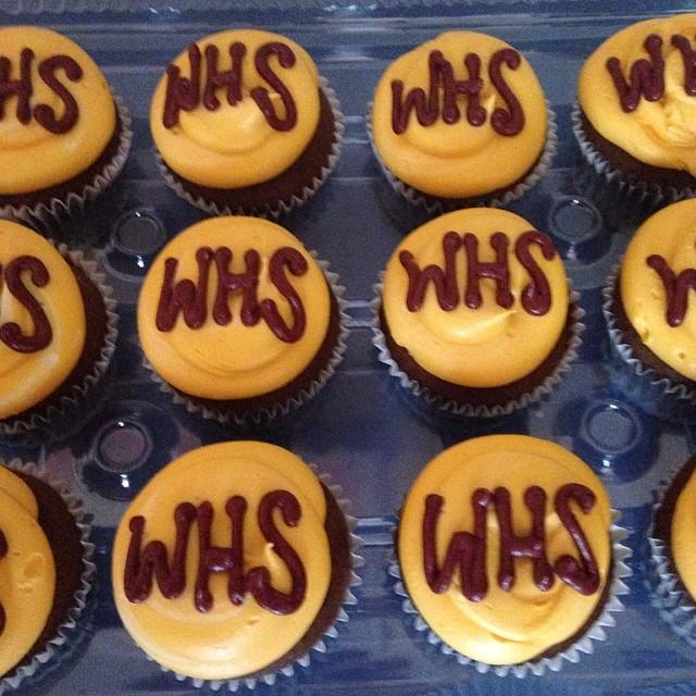 Cupcakes for soccer #sweetchef #warwickhighschool #newportnews #virginia #maroonandgold #virginia #c