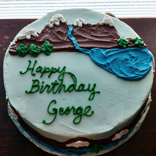 #sweetchefpastry #birthday #redvelvetcake #creamcheeseicing #mountains #river #trees #williamandmary
