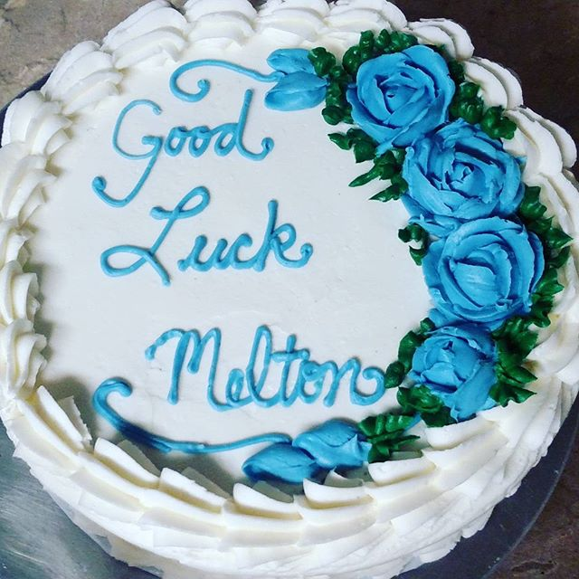 #sweetchefpastry #layercake  #chocolatecake #vanillabuttercream #bluerose #shellborder #gradedexamsa