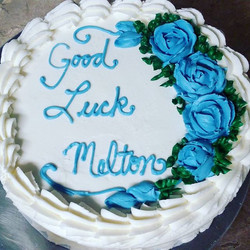 #sweetchefpastry #layercake  #chocolatecake #vanillabuttercream #bluerose #shellborder #gradedexamsa
