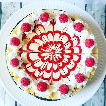 White chocolate raspberry cheesecake_#ch