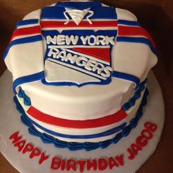 Instagram - #sweetchef #marblecake #vanillabuttercream #redwhiteandblue #newyorkrangers #hockey #bir