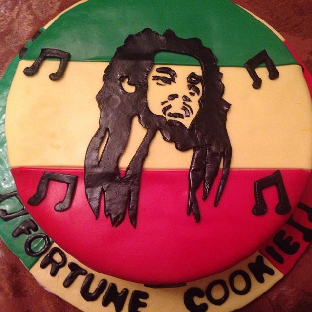 Instagram - #yellowcake #vanillabuttercream #sweetchef #fondant #bobmarley #music #rasta #jamaica #s