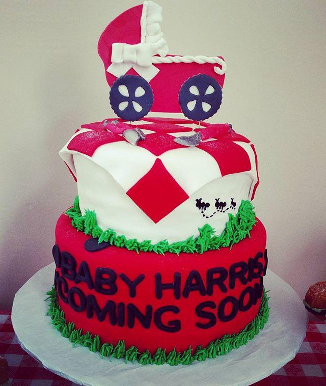 #sweetchef #sweetchefpastry #babyshower #babyq #fondant #satinice #redvelvet #creamcheeseicing #baby