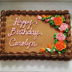 #sweetchef #sweetchefpastries #vanillacake #chocolatebuttercream #roses #orange #pink #birthday
