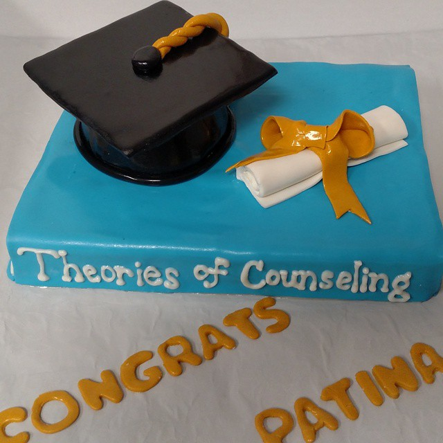 Instagram - #sweetchefpastries #marblecake #vanillabuttercream #fondant #customcake  #graduation #ns